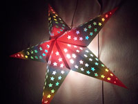 rainbow star lamp