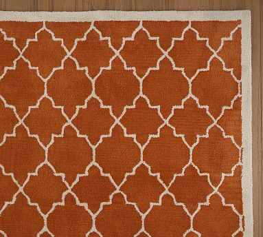 Moorish Tile Rug in Clementine from Pottery Barn